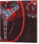 Chevrolet Corvette Red 1962 Wood Print