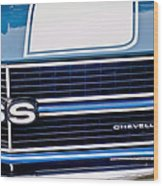 Chevrolet Chevelle Ss Grille Emblem 2 Wood Print by Jill Reger