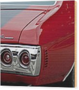 Chevrolet Chevelle Ss Taillight Emblem 3 Wood Print