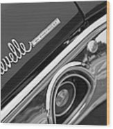 Chevrolet Chevelle Ss Taillight Emblem Wood Print by Jill Reger