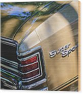 Chevrolet Chevelle Ss Taillight Emblems Wood Print