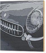 Chevrolet Corvette 1954 Wood Print