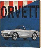 Chevrolet Corvette 1958 Wood Print