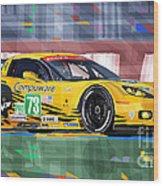 Chevrolet Corvette C6r Gte Pro Le Mans 24 2012 Wood Print