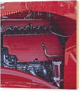 Chevrolet Corvette Engine Wood Print