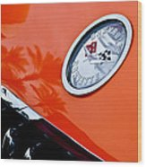 Chevrolet Corvette Hood Emblem Wood Print