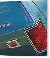 Chevrolet El Camino Taillight Emblem Wood Print