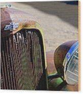 Chevrolet Grille Emblem - Head Light Wood Print