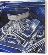 Chevrolet Hotrod Engine Wood Print