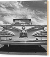 Chevrolet Impala 1959 In Black And White Wood Print
