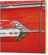 Chevrolet Impala Classic In Red Wood Print