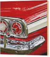 Chevrolet Impala Classic Rear View Wood Print