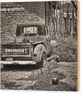 Chevrolet Pickup - Sepia Wood Print