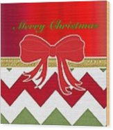 Chevron Christmas Wood Print