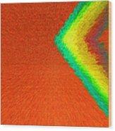 Chevron Rainbow Orange C2014 Wood Print