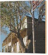 Chevron Station Ghost Town Gleeson Arizona 1972 Wood Print