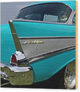 Chevy 1957 Bel Air Wood Print