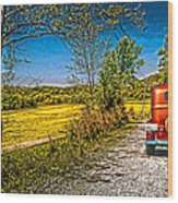 Chevy 34 Sweet Country Road Wood Print