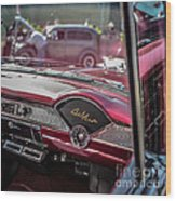 Chevy Bel Air Dash Wood Print