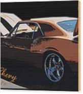 Chevy Camaro 67 Wood Print