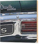 Chevy Chevelle Malibu Super Sport Wood Print
