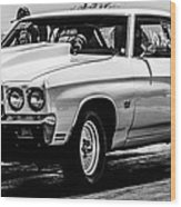 Chevy Chevrolet Chevelle Ss Burning Rubber Wood Print