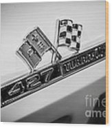 Chevy Corvette 427 Turbo-jet Emblem Wood Print by Paul Velgos