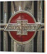 Chevy Emblem Wood Print by Paul Freidlund