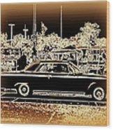 Chevy Glow Wood Print by Bobbee Rickard