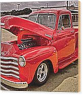 Chevy Hot Red Wood Print