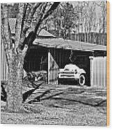 Chevy In Hiding Wood Print