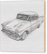Chevy No Levy-076 Wood Print
