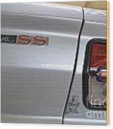 Chevy Nova Ss Emblem And Tail Light Wood Print