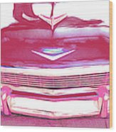 Chevy - Red Wood Print