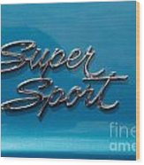 Chevy Super Sport II Emblem Wood Print