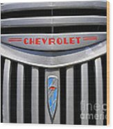 Chevy Truck Grill Wood Print
