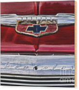 Chevy Truck Logo Vintage Wood Print