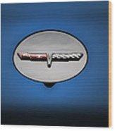 Chevy Vet Gas Cap Emblem Wood Print