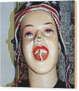 Chewing Gum Smile Wood Print