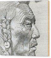 Cheyenne Medicine Man Wood Print