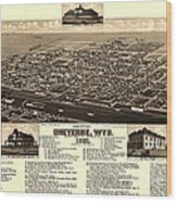 Cheyenne Wyoming - Birds Eye Wood Print