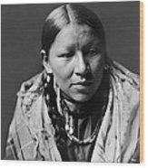 Cheyenne Young Woman Circa 1910 Wood Print by Aged Pixel
