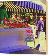 Chez Nino At Marche Jean Talon Montreal A Taste Of Culinary Culture  Food Art Scenes Carole Spandau  Wood Print