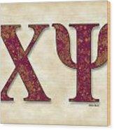 Chi Psi - Parchment Wood Print