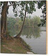 Chiang Mai University Lake Wood Print