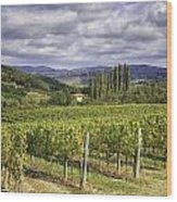 Chianti Country Wood Print