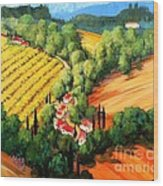 Chianti Road Wood Print