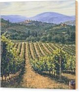 Chianti Vines Wood Print by Michael Swanson