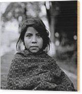 Chiapas Girl Wood Print