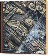 Chicago A View From The Top Of Sears Willis Tower Hdr Triptych 3 Panel Wood Print